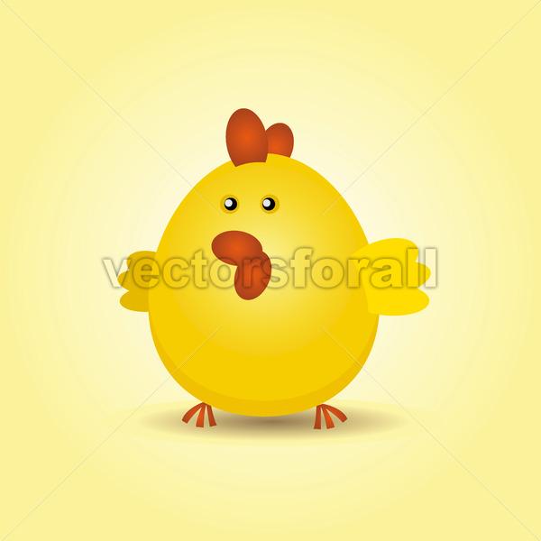 Easter Chicken - Vectorsforall