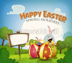 Easter Holidays Background - Vectorsforall