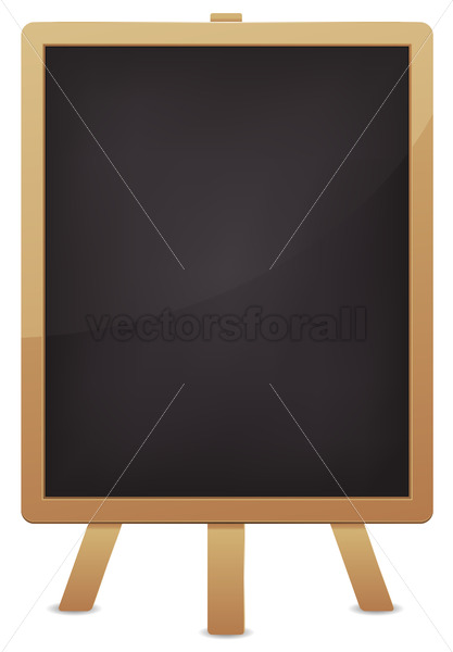 Empty Blackboard For Advertisement - Vectorsforall