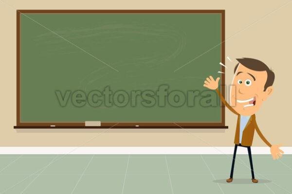 Express Yourself ! – Teacher Showing Blackboard Sign - Vectorsforall