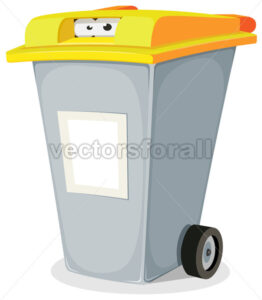 Eyes Inside Trash Bin - Vectorsforall