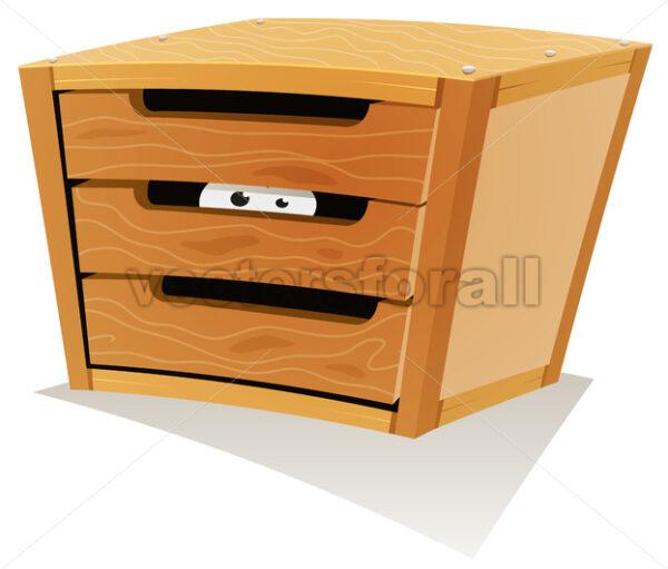 Eyes Inside Wood Drawer - Vectorsforall