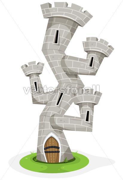 Fantasy Castle Tower - Vectorsforall