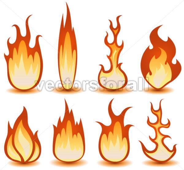 Fire And Flames Symbols Set - Vectorsforall