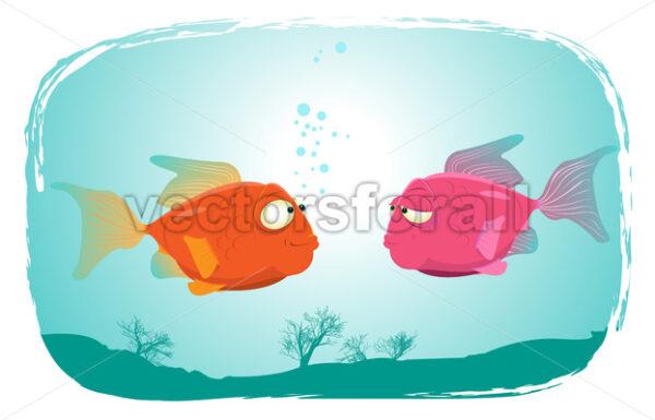 Fishes In Love - Vectorsforall