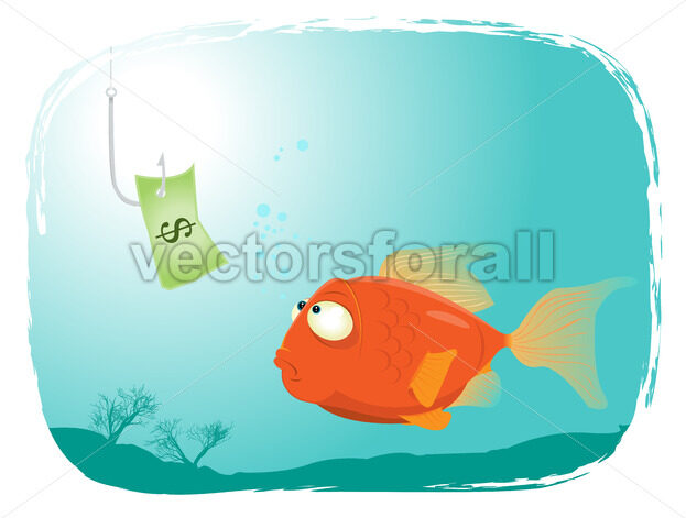 Fishing with Money - Vectorsforall