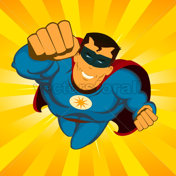 Flying Superhero - Vectorsforall