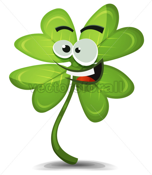 Four Leaf Clover Character - Vectorsforall