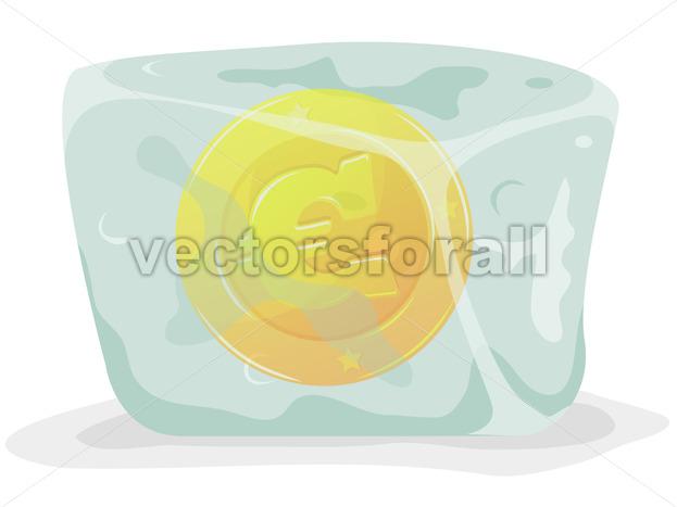 Frozen Euro Coin - Vectorsforall