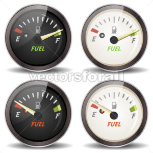 Fuel Gauge Icons Set - Vectorsforall