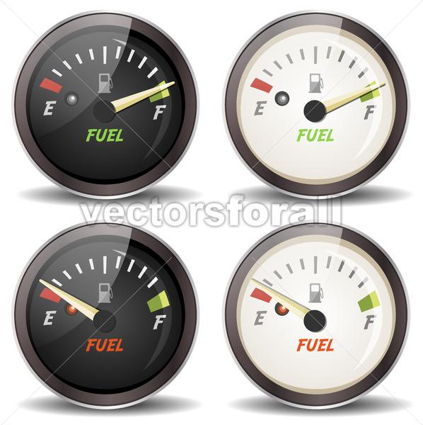 Fuel Gauge Icons Set - Vectorsforall