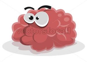 Funny Brain Character - Vectorsforall