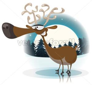 Funny Christmas Reindeer - Vectorsforall