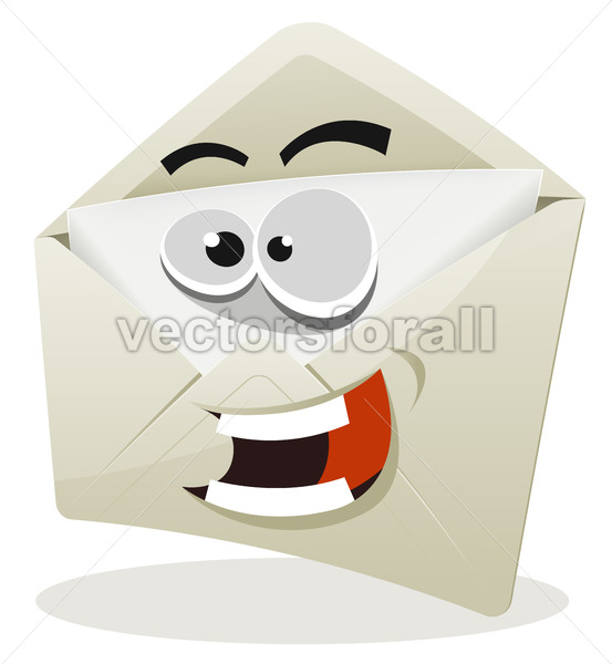 Funny Email Icon Character - Vectorsforall