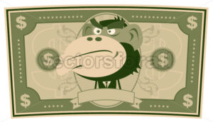 Funny Money – Cartoon US Dollar - Benchart's Shop