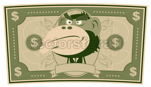 Funny Money – Cartoon US Dollar - Benchart's Shop
