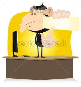 Funny Monkey Boss - Vectorsforall