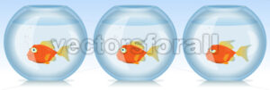 Gold Fish Life And Times In Aquarium - Vectorsforall