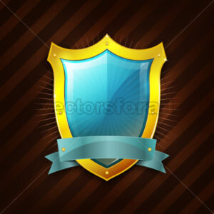 Gold Security Shield Icon - Vectorsforall