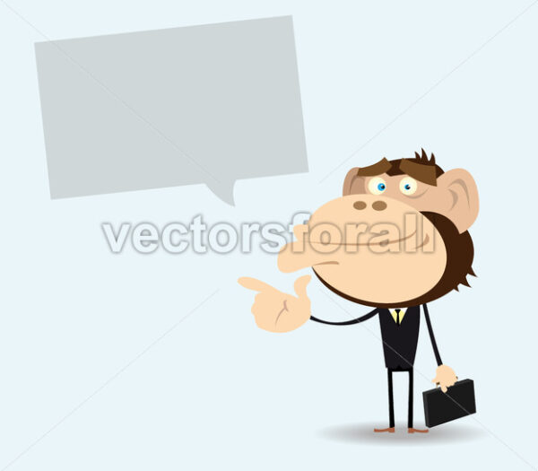 Gorilla Businessman with Message - Vectorsforall