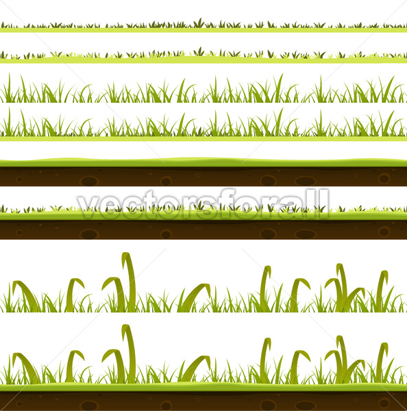 Grass And Lawn Layers Set - Vectorsforall