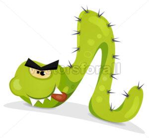 Green Caterpillar Character - Vectorsforall