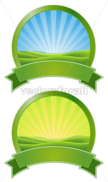 Green Sunrise Banners - Benchart's Shop