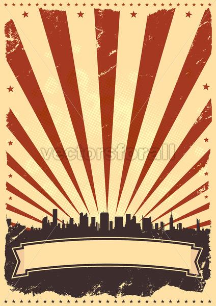 Grunge American Leaflet - Vectorsforall
