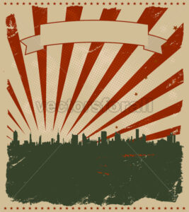 Grunge American Poster - Benchart's Shop