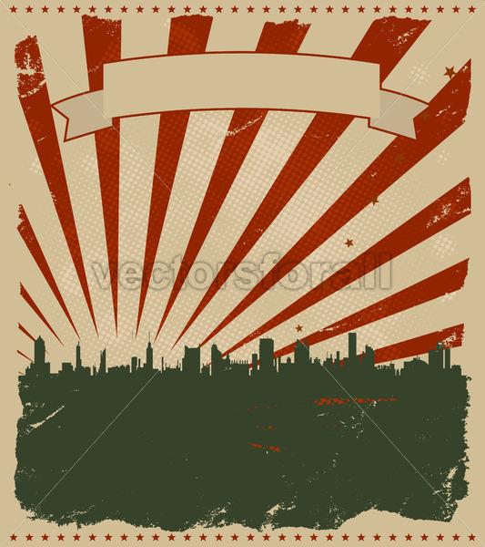 Grunge American Poster - Benchart's Shop
