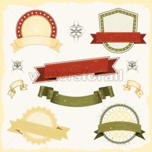 Grunge Banner Set - Vectorsforall
