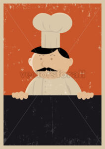 Grunge Chef Menu Poster - Benchart's Shop