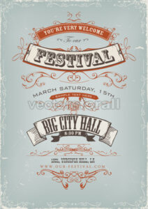 Grunge Festival Invitation Poster - Vectorsforall
