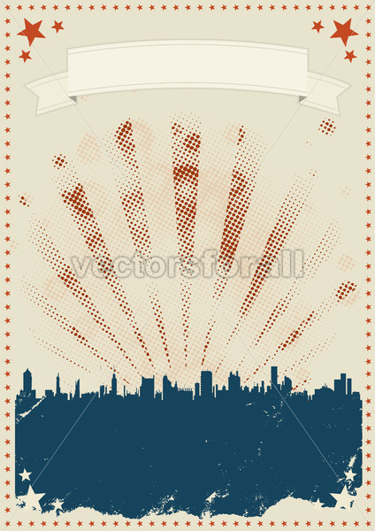 Grunge Fourth Of July Poster - Vectorsforall