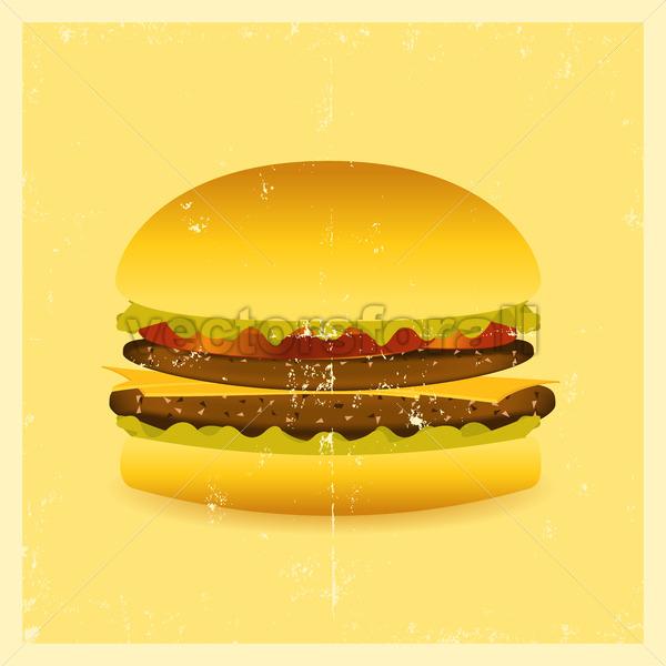 Grunge Hamburger - Vectorsforall
