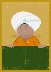 Grunge India Chef Cook Poster - Benchart's Shop