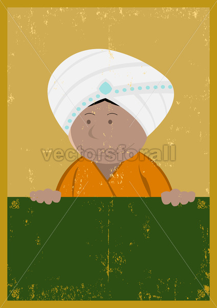 Grunge India Chef Cook Poster - Vectorsforall