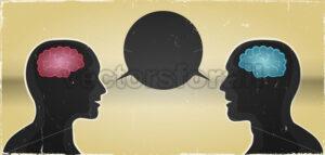 Grunge Man And Woman Communication Background - Vectorsforall