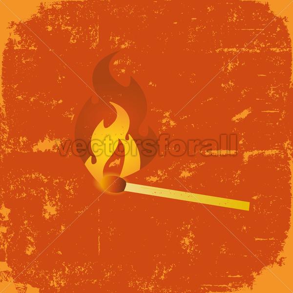 Grunge Match Poster - Vectorsforall