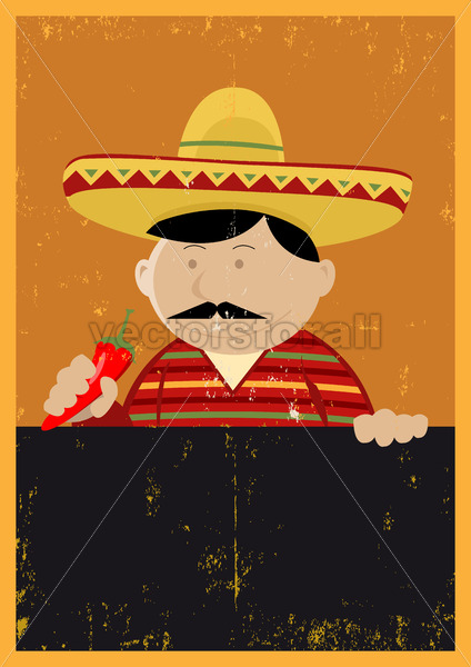 Grunge Mexican Chef Cook Menu - Vectorsforall