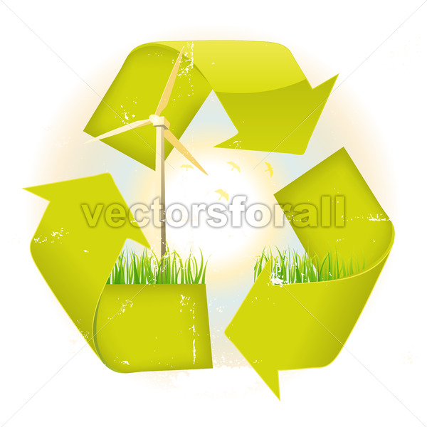 Grunge Recyclable Symbol - Benchart's Shop