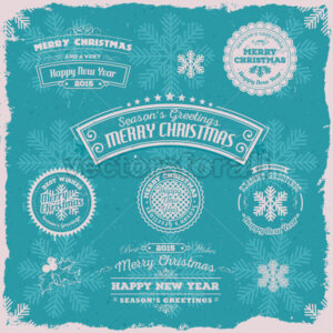 Grunge Season's Greetings Banners - Vectorsforall