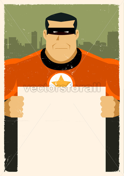 Grunge Urban Super Hero Ad Sign - Benchart's Shop