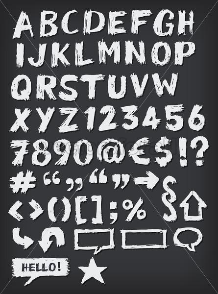 Hand Drawn ABC Elements - Vectorsforall