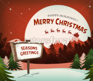 Happy Christmas Holidays Background - Vectorsforall