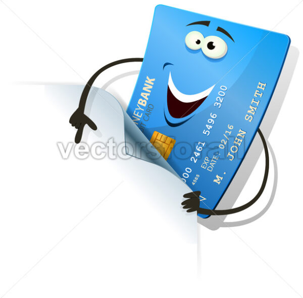 Happy Credit Card Showing Blank Sign - Vectorsforall