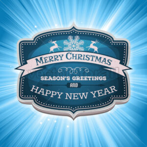 Happy New Year And Merry Christmas Banner - Vectorsforall