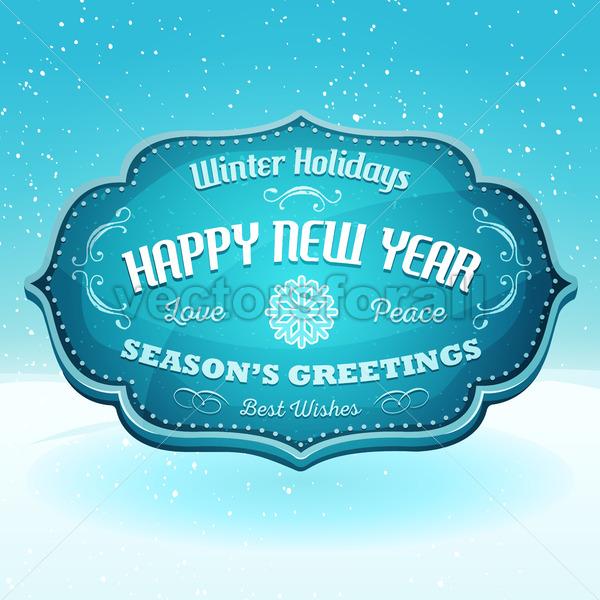 Happy New Year And Season's Greetings Banner - Vectorsforall