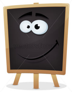 Happy School Chalkboard Character - Vectorsforall