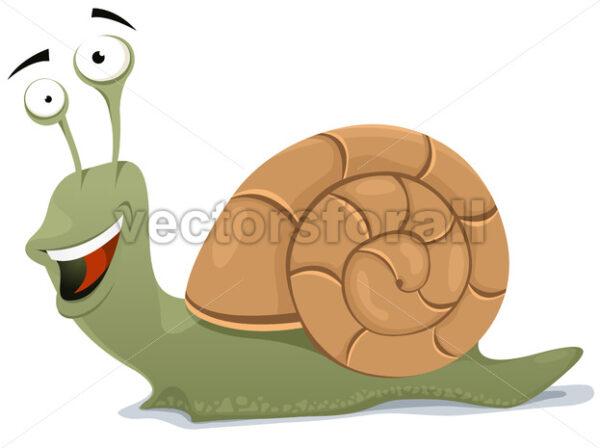 Happy Snail Character - Vectorsforall